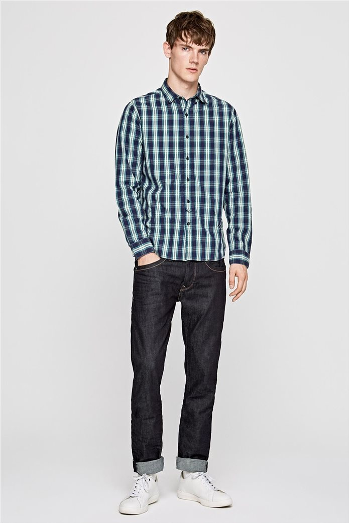 Pepe Jeans ανδρικό καρό πουκάμισο Slim fit Chandler 2