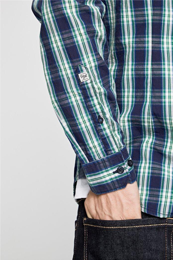 Pepe Jeans ανδρικό καρό πουκάμισο Slim fit Chandler 4