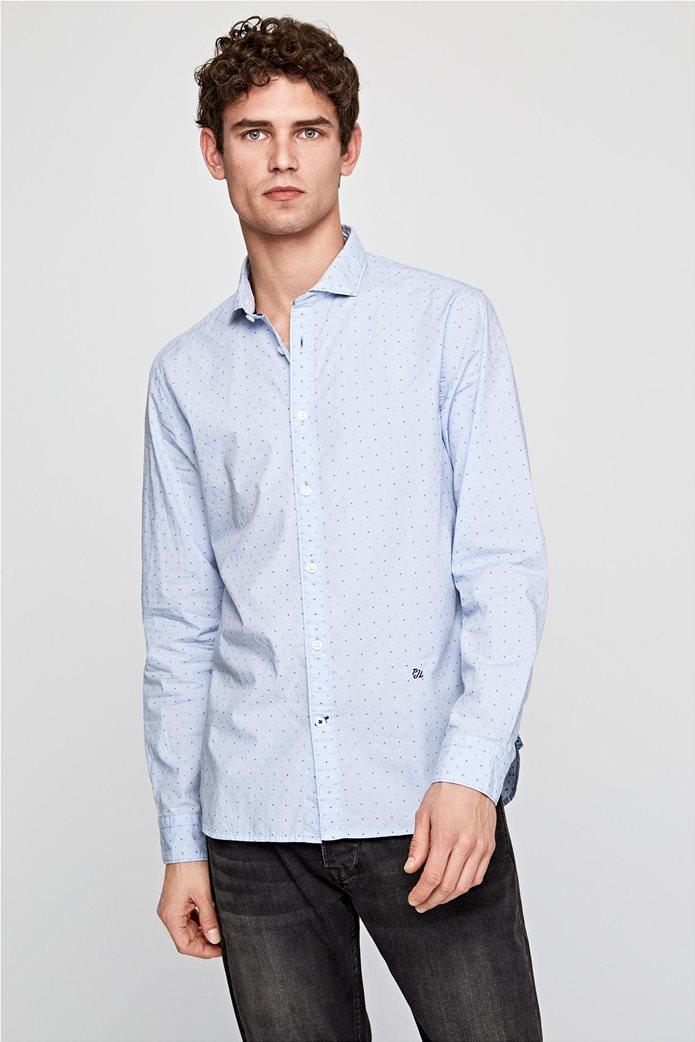 Pepe Jeans ανδρικό πουκάμισο με μικροσχέδιο Slim fit ''Derek'' 0