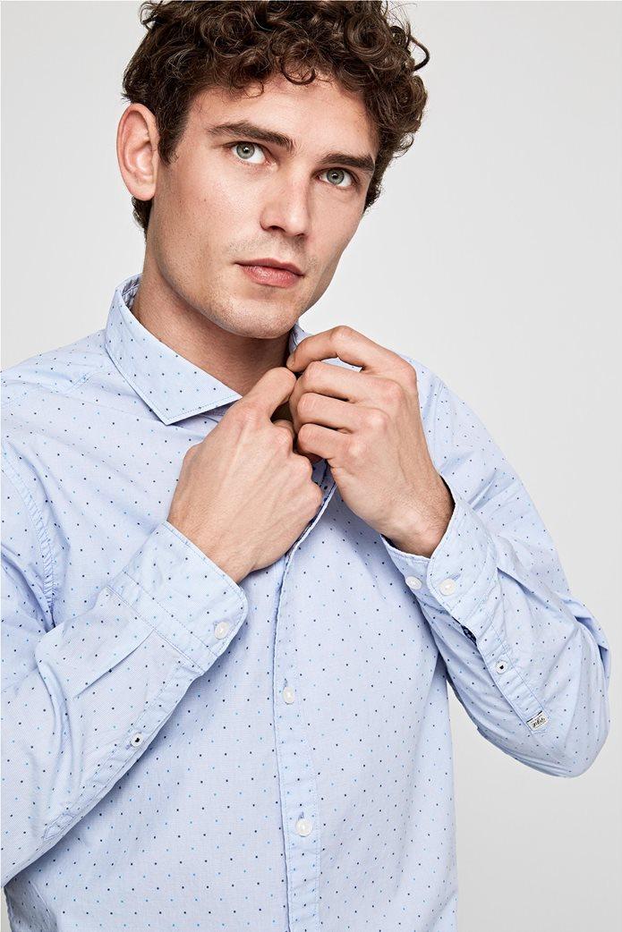 Pepe Jeans ανδρικό πουκάμισο με μικροσχέδιο Slim fit ''Derek'' 2