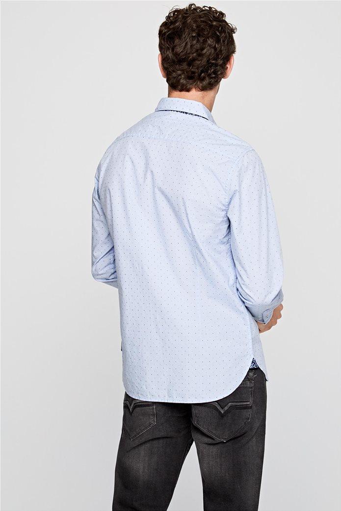 Pepe Jeans ανδρικό πουκάμισο με μικροσχέδιο Slim fit ''Derek'' 3