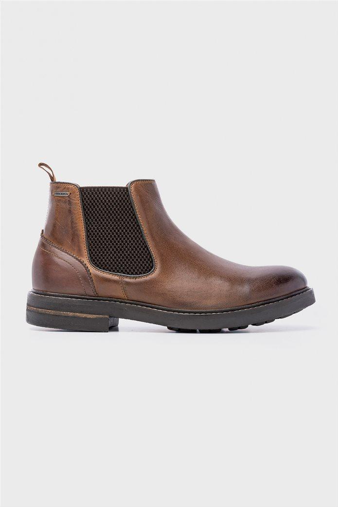 Pepe Jeans ανδρικά μποτάκια Hubert Chelsea Boots Καφέ 0