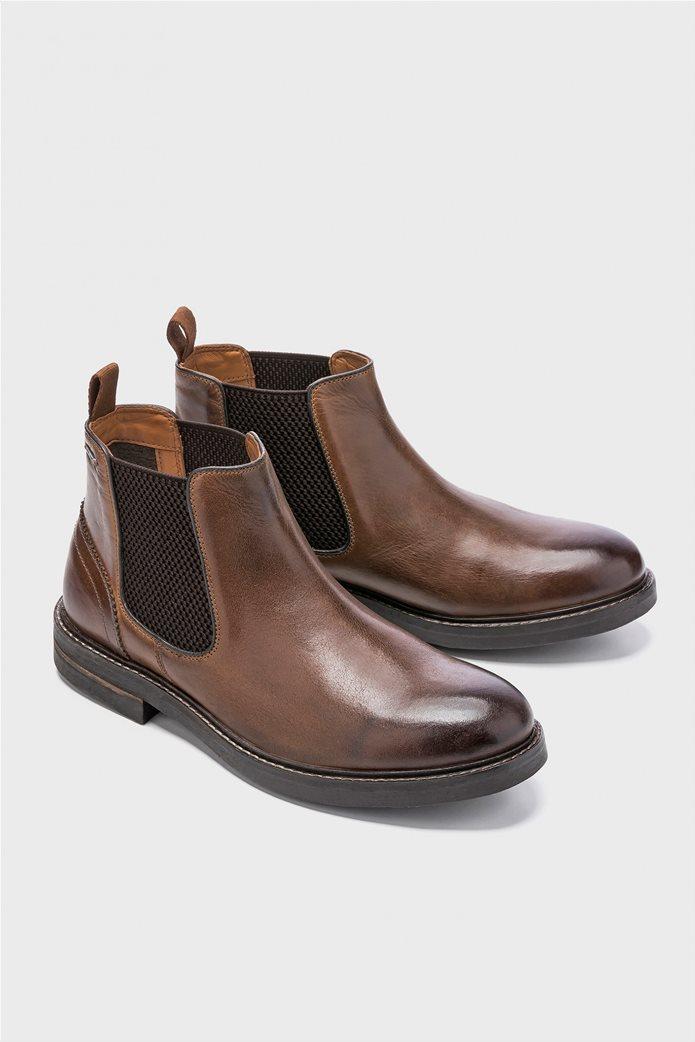 Pepe Jeans ανδρικά μποτάκια Hubert Chelsea Boots Καφέ 2