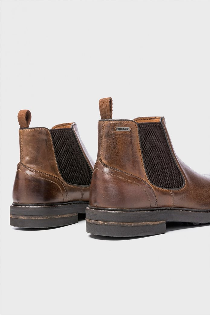 Pepe Jeans ανδρικά μποτάκια Hubert Chelsea Boots Καφέ 3