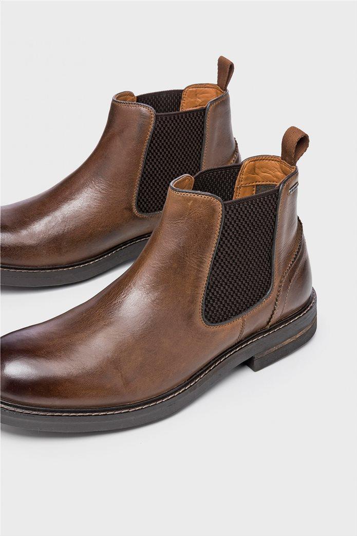 Pepe Jeans ανδρικά μποτάκια Hubert Chelsea Boots Καφέ 4