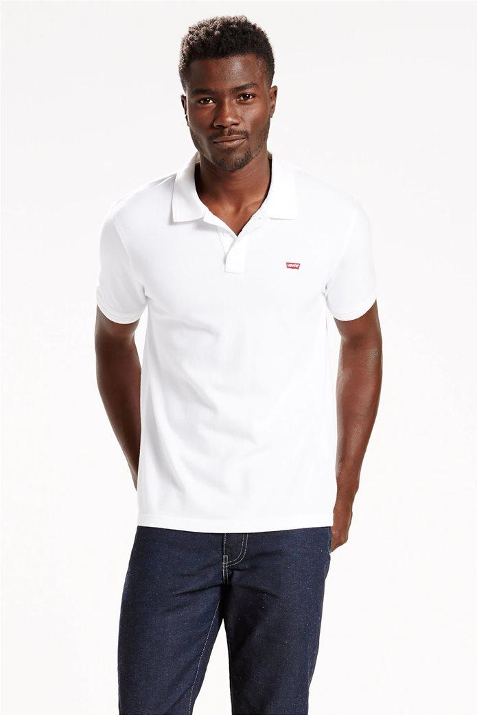 Levi's ανδρική μπλούζα polo με κεντημένο λογότυπο 0