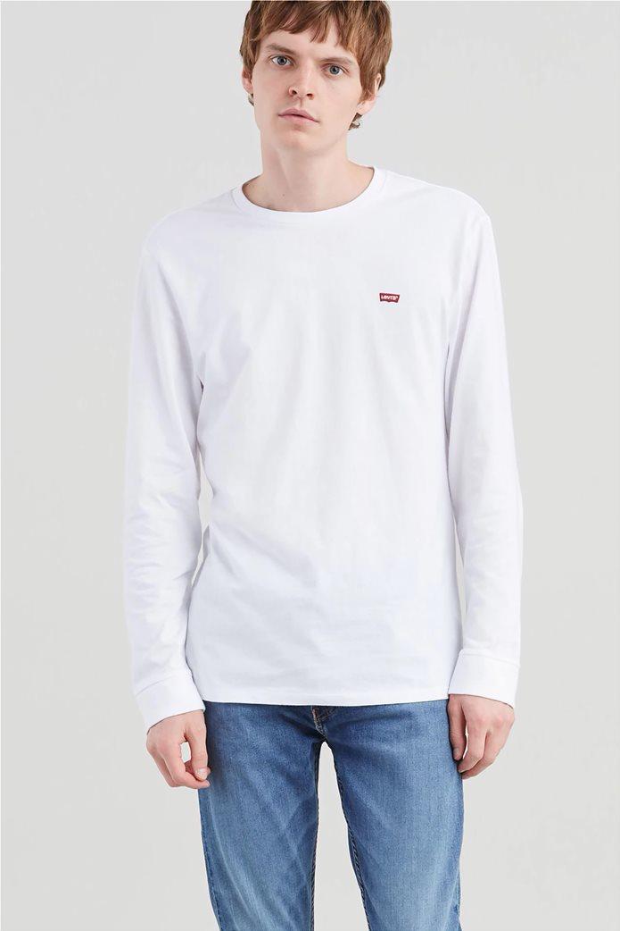 Levi's ανδρική μακρυμάνικη μπλούζα με κεντημένο λογότυπο 0