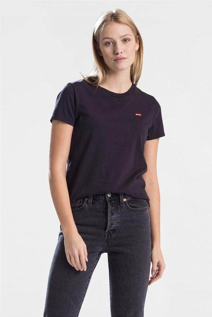 "Levi's  γυναικείο T-shirt μονόχρωμο ""Perfect Tee"" Μαύρο 0"
