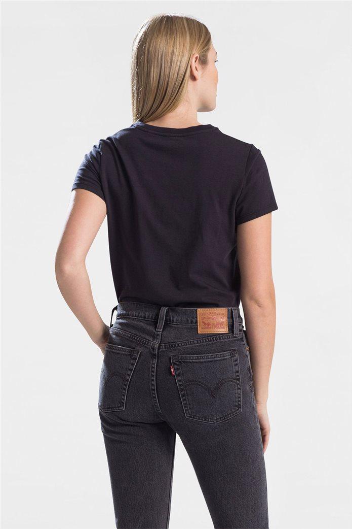 "Levi's  γυναικείο T-shirt μονόχρωμο ""Perfect Tee"" Μαύρο 1"