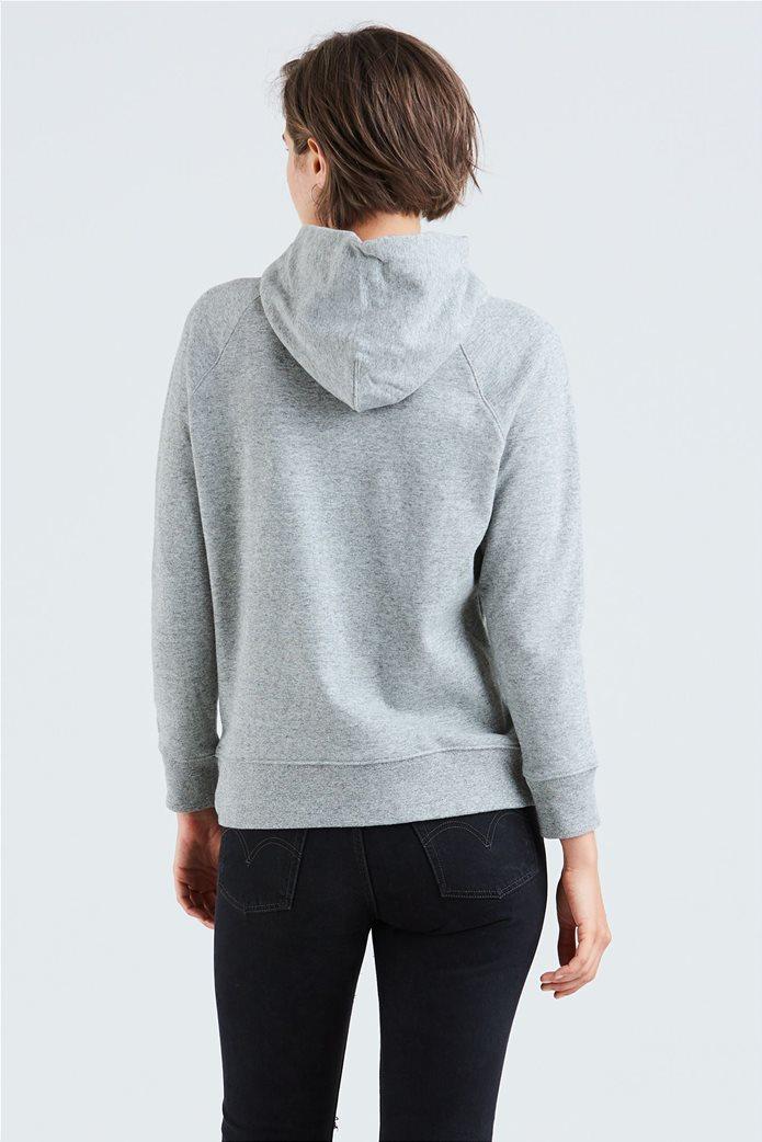 "Levi's  γυναικείο φούτερ με κουκούλα και μεγάλο brand logo ""Graphic Sport"" Γκρι 1"
