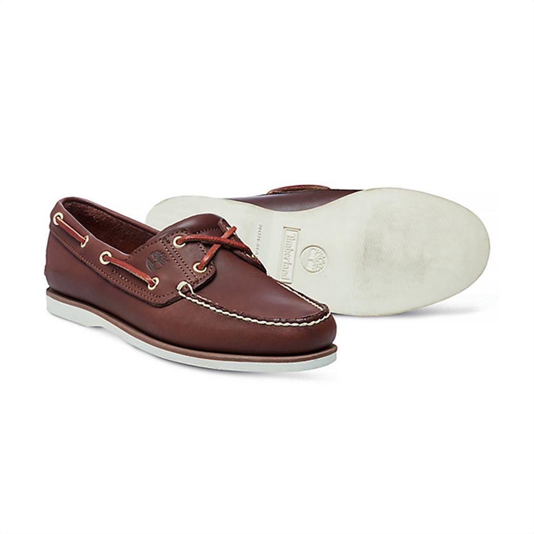 Timberland ανδρικά δερμάτινα παπούτσια Classic 2-Eye Boat 2