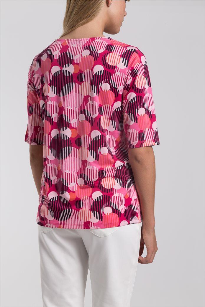 Γυναικείο Τ-shirt με γεωμετρικά σχέδια Gerry Weber Ροζ 3