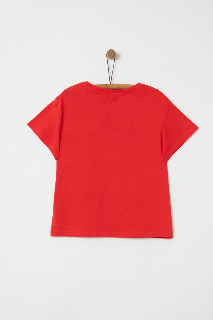 OVS παιδικό T-shirt με letter print Just Love USA και ρίγες 1