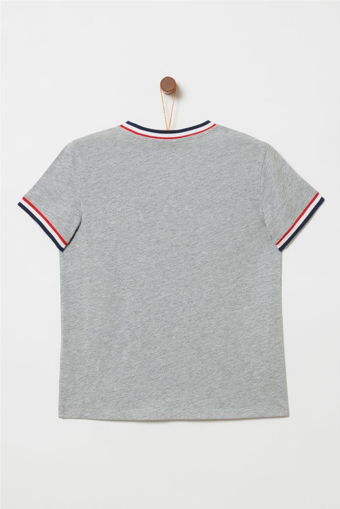 OVS παιδικό T-shirt με letter print Bee Yourself Γκρι 1