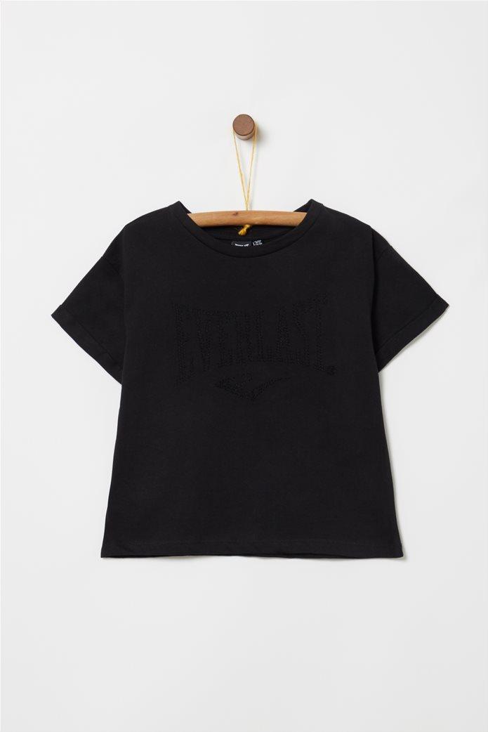 Everlast παιδικό T-shirt cropped με στρας Μαύρο 0