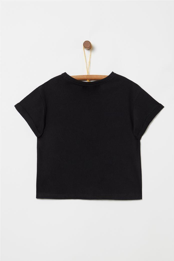 Everlast παιδικό T-shirt cropped με στρας Μαύρο 1