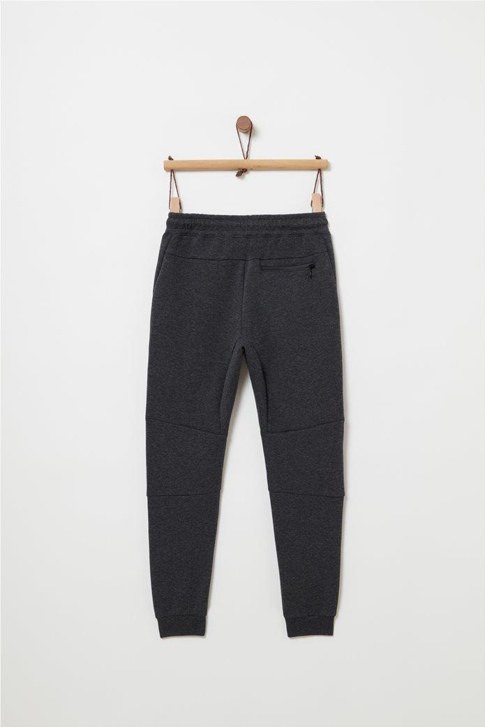 OVS παιδικό παντελόνι φόρμας μονόχρωμο με τσέπες και patch 1