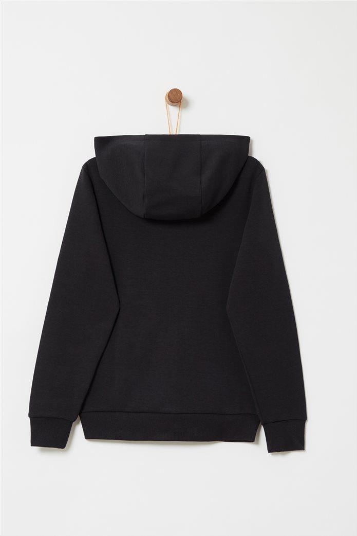 OVS παιδική ζακέτα φούτερ με κουκούλα, πλαϊνές τσέπες και patch 1