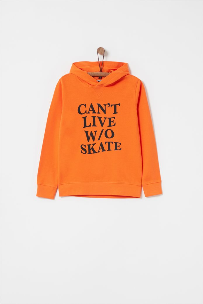 OVS παιδικό φούτερ με κουκούλα, letter print Can't Live W/O Skate 0