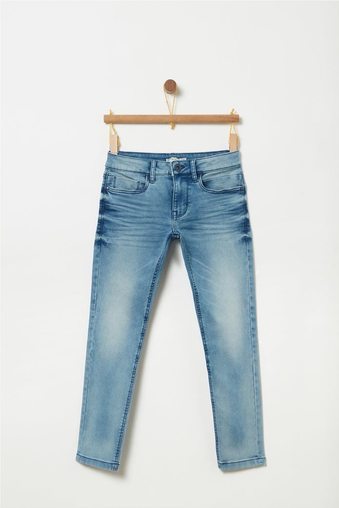 OVS μπλε παιδικό παντελόνι τζην ξεβαμμένο slim fit 0