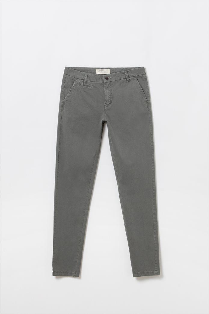 Παιδικό παντελόνι chino Slim fit Ανθρακί 0
