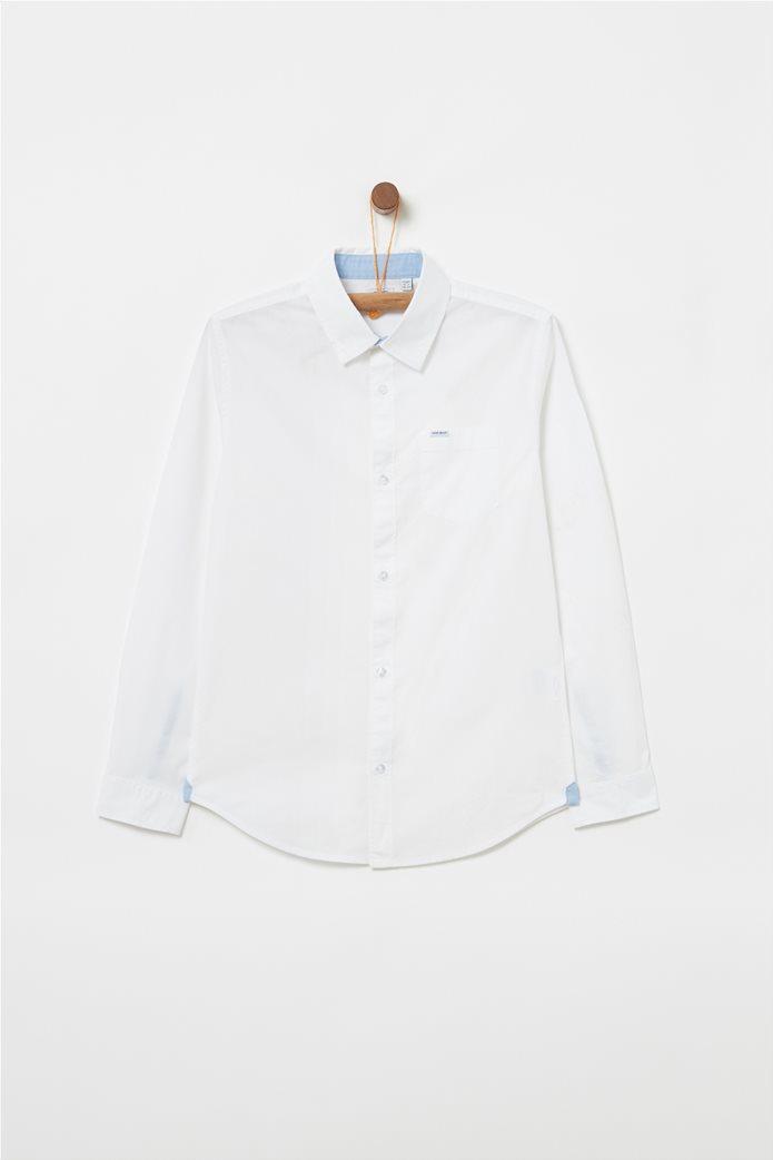 OVS παιδικό μονόχρωμο πουκάμισο με τσέπη 0