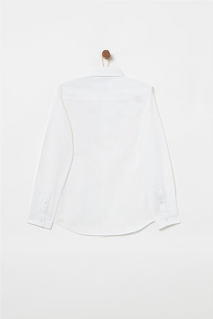 OVS παιδικό μονόχρωμο πουκάμισο με τσέπη 1