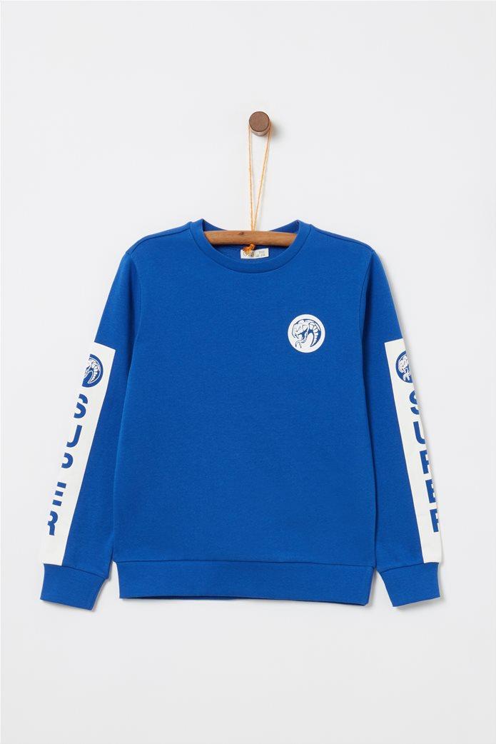 ΟVS παιδικό φούτερ μακρυμάνικο με print 0