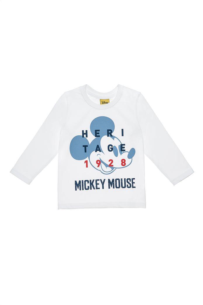 Alouette παιδική μπλούζα Disney Mickey Mouse 90 years με μακρύ μανίκι (18 μηνών-5 ετών) 0