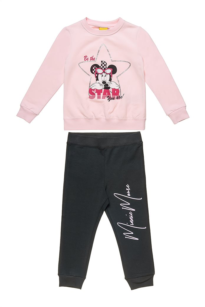 "Alouette παιδικό σετ ρούχων μπλούζα με print ""Minnie Mouse"" και παντελόνι (12 μηνών-5 ετών) 0"