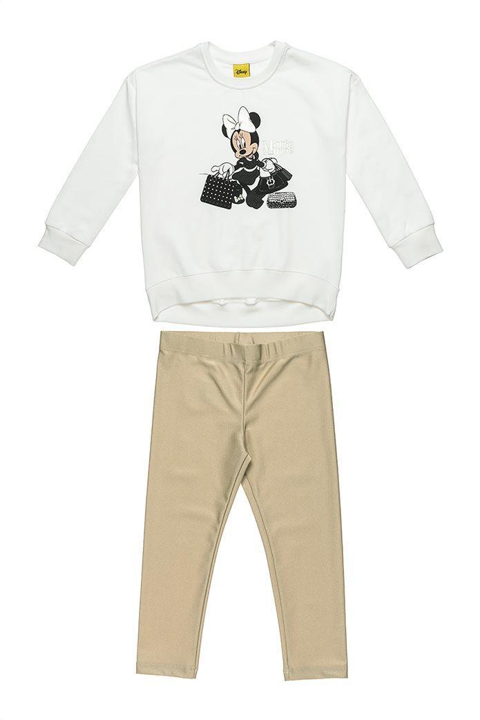 "Alouette παιδικό σετ ρούχων μπλούζα με print ""Minnie Mouse"" και μεταλλιζέ κολάν (2-8 ετών) 0"