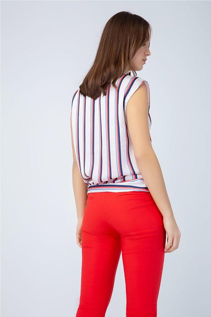 Billy Sabbado γυναικεία ριγέ μπλούζα με δέσιμο 1
