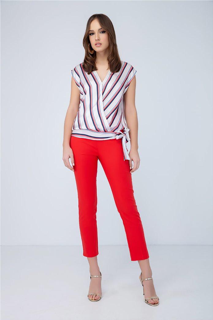 Billy Sabbado γυναικεία ριγέ μπλούζα με δέσιμο 2