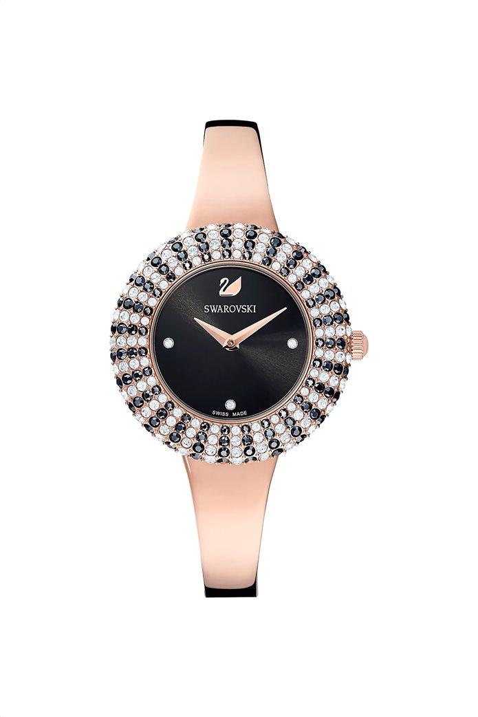 Swarovski Crystal Rose Watch, Metal Bracelet, Rose-gold tone PVD 0