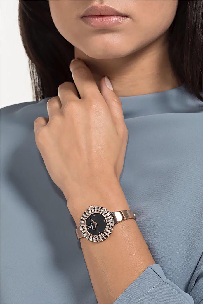 Swarovski Crystal Rose Watch, Metal Bracelet, Rose-gold tone PVD 1