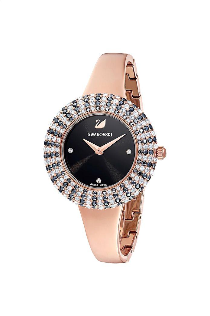 Swarovski Crystal Rose Watch, Metal Bracelet, Rose-gold tone PVD 3
