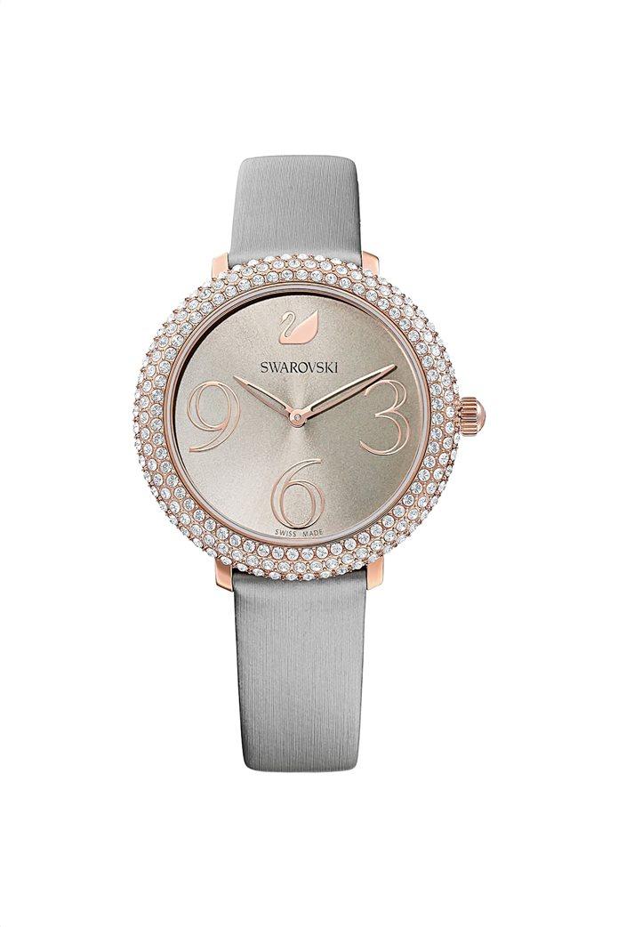 Swarovski Crystal Frost Watch, Leather Strap, Rose-gold tone PVD 0