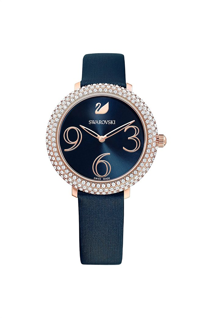 Swarovski Crystal Frost Watch, Leather Strap, Rose-gold tone PVD 0