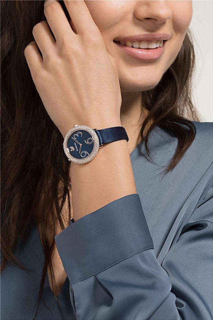 Swarovski Crystal Frost Watch, Leather Strap, Rose-gold tone PVD 1
