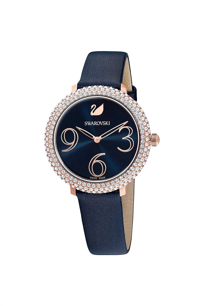 Swarovski Crystal Frost Watch, Leather Strap, Rose-gold tone PVD 3