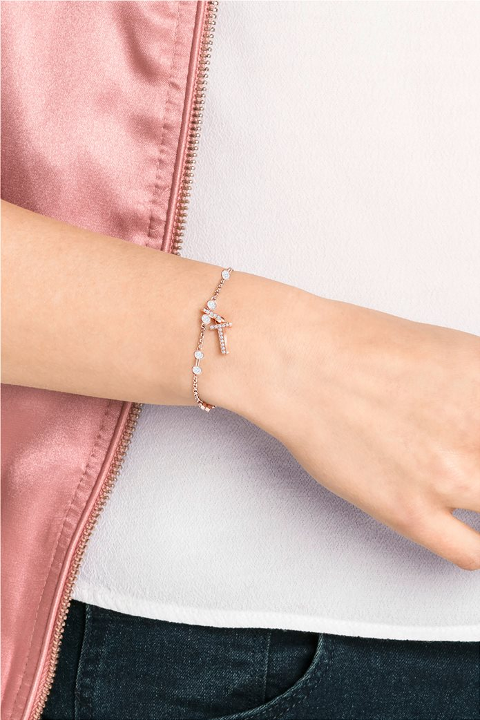 Swarovski Remix Collection Charm T, Rose gold plating 1