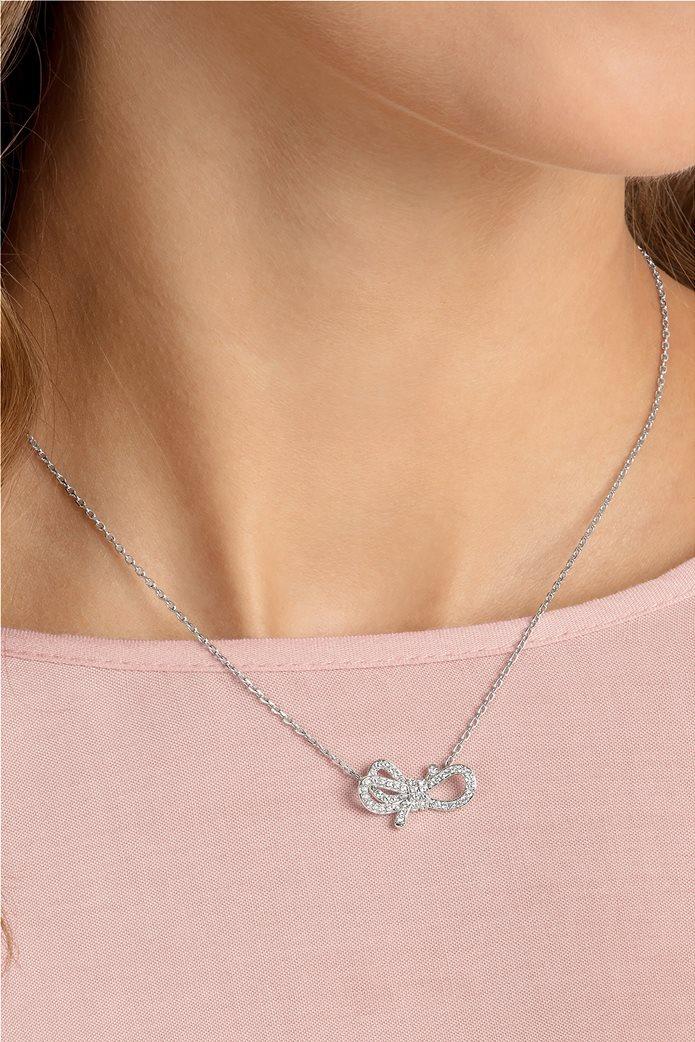 Swarovski Lifelong Bow Necklace, Rhodium plating 2