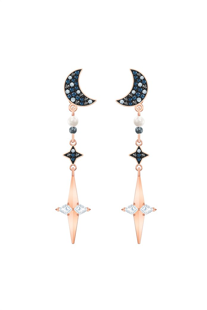 Swarovski Symbolic Star Hoop Pierced Earrings, Rose-gold tone plated 0
