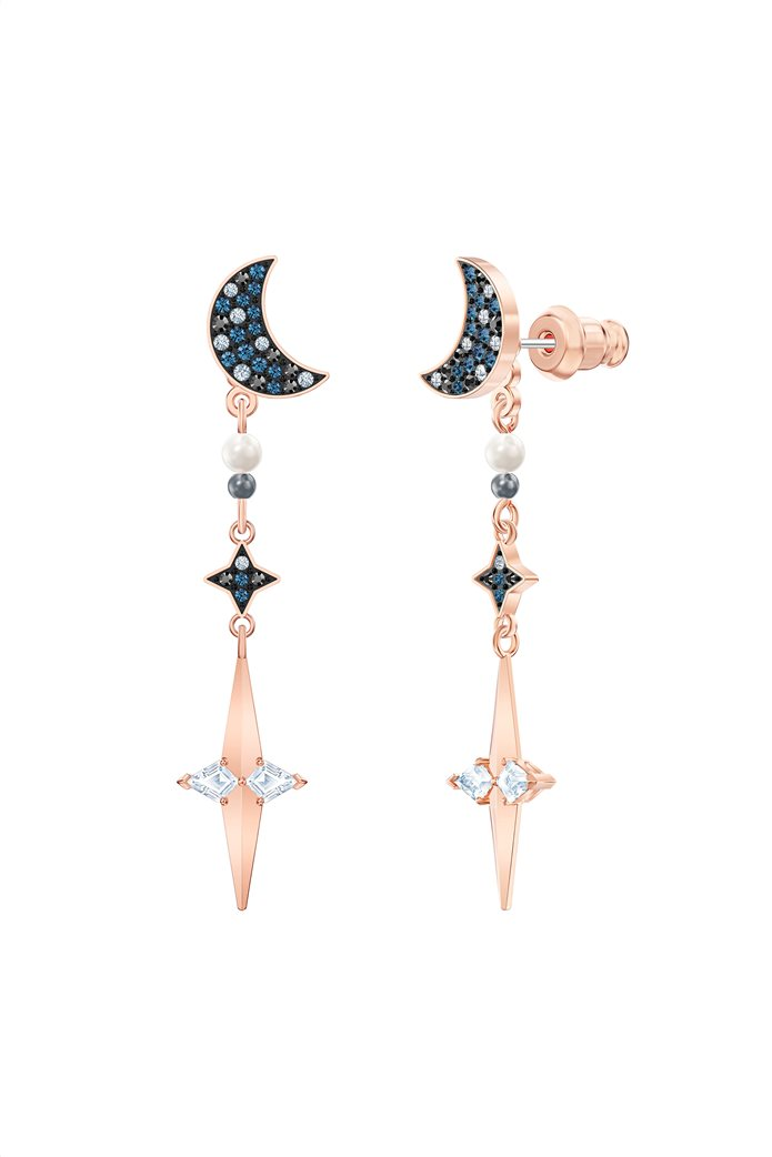 Swarovski Symbolic Star Hoop Pierced Earrings, Rose-gold tone plated 2
