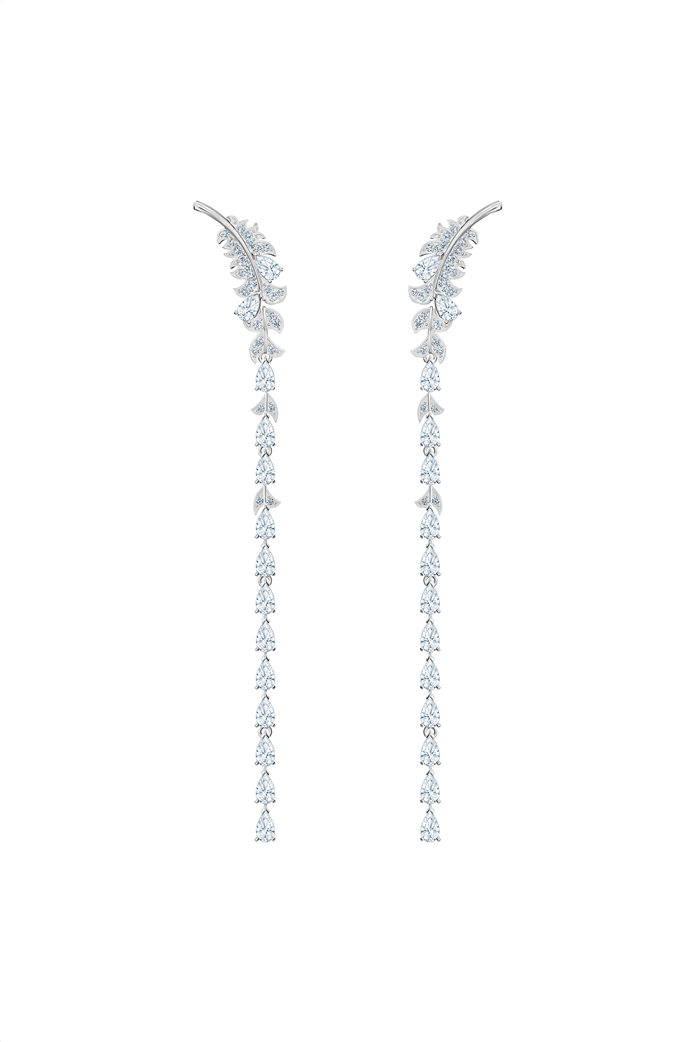 Swarovski Nice Pierced Earrings, Rhodium plated 1