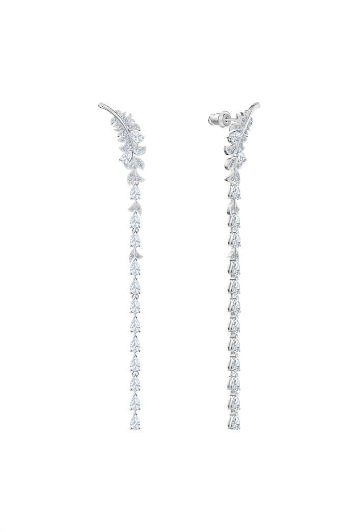 Swarovski Nice Pierced Earrings, Rhodium plated 3