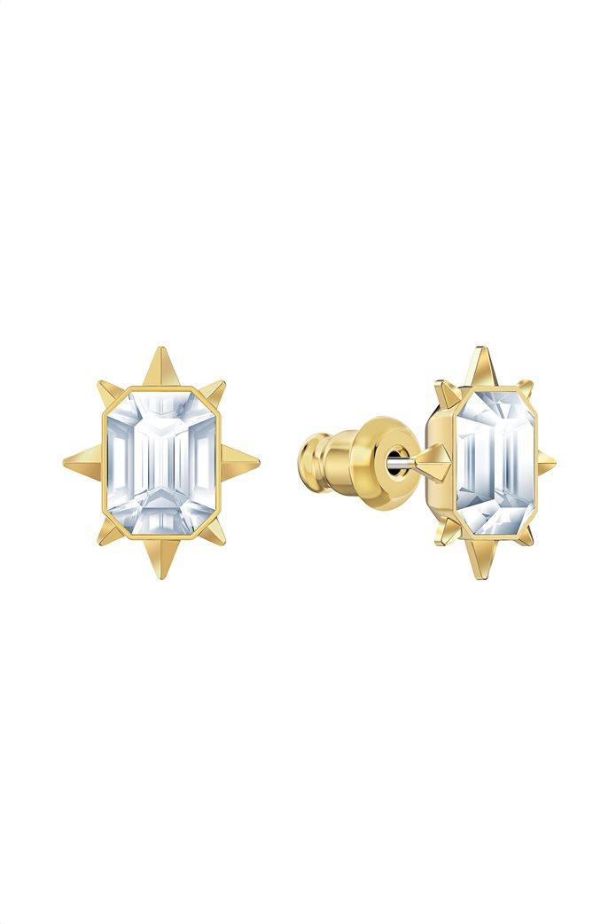 Swarovski Tarot Magic Stud Pierced Earrings, Gold-tone plated 3