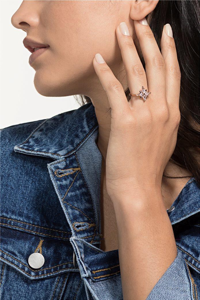 Swarovski Symbolic Star Motif Ring, Rose-gold tone plated Size 55 1