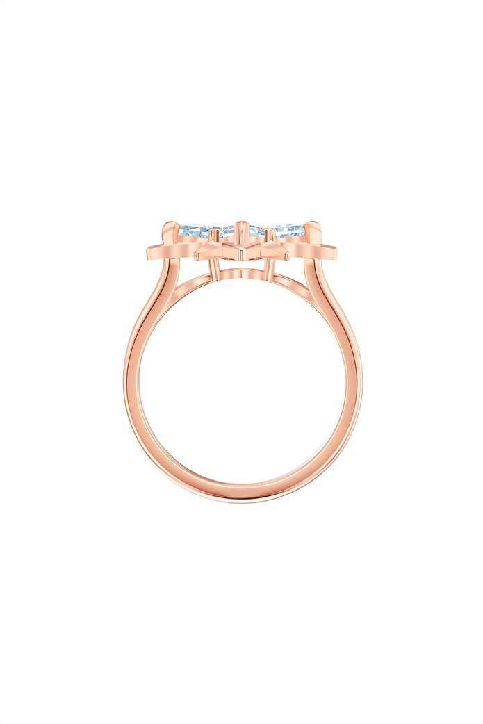 Swarovski Symbolic Star Motif Ring, Rose-gold tone plated Size 55 2