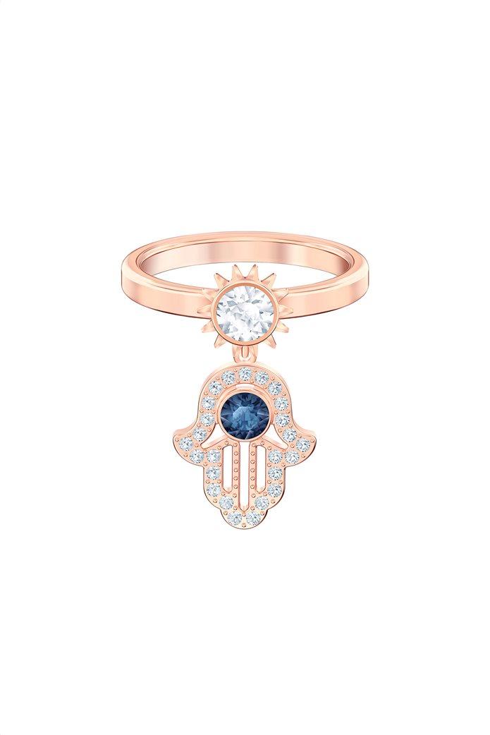 Swarovski Symbolic Motif Ring, Rose-gold tone plated Size 55 0